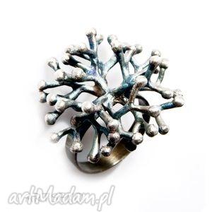 Rozgałęziony pierścionek B349, pierścionek, srebrny