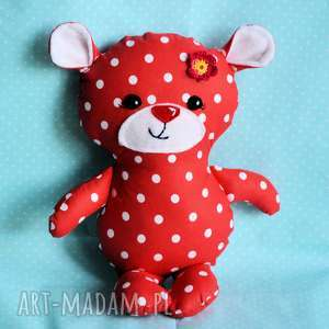 Miś Kuleczka - Madzia 26 cm, miś, dziewczynka, maskotka, przytulanka, chrzciny
