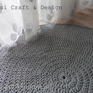 okrągły dywan ze sznurka 100 cm w kolorze jasny szary, dywan, sznurek, pokoik