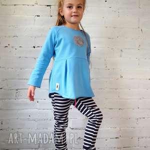 bluzeczka moon błękitna, bluzka, dziewczynka, prezent, cekiny, tunika, aplikacja