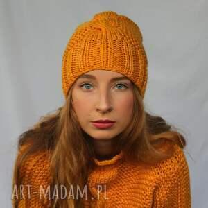 czapki czapka z warkoczem - różne kolory, czapka, ciepła