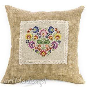poduszki poduszka prosto z serca folk na jucie, poduszka, ludowa, folk