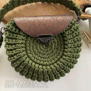 wyjątkowy prezent, damska torebka oreo khaki, damska, szydełkowa