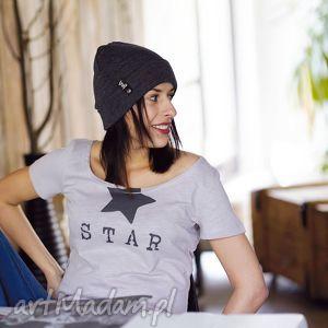 star koszulka damska oversize gwiazda, tshirt, damski, oversize, dekolt
