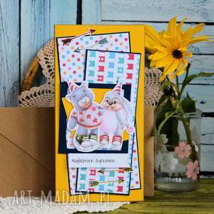 kartka ze zwierzątkami - najlepsze życzenia, kartka, dziecko, urodzinowa