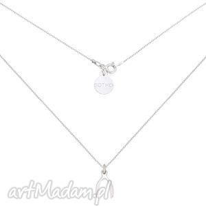 srebrny naszyjnik z kością szczęścia wishbone - łańcuszek