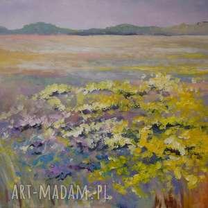 obrazy obraz na płótnie - żółta łąka 30/40 cm