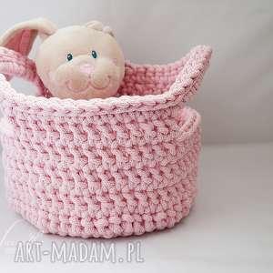 Koszyk różowy 116 - ,kosz,przechowywanie,sznurek,