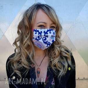 Kobieca maseczka ornamenty maroko bawełna ochronna na twarz
