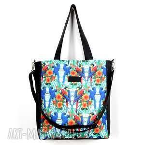 handmade na ramię pojemna torba wodoodporna papugi na laptopa