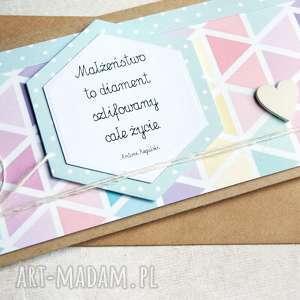 kartka - kopertówka :: geometric pastels, ślub