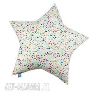 poduszka gwiazda, wzór diamenty, poduszka, poducha, trójkąty, gwiazda