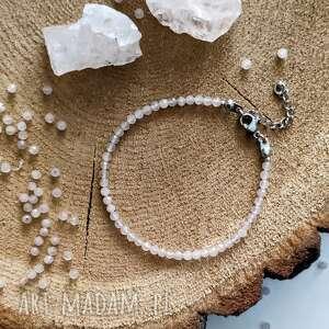 bransoletka z kwarcem - kamieniem miłości, walentynki, bransoletka