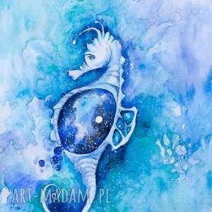 galaktyczny konik akwarela artystki plastyka adriany laube