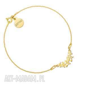 złota bransoletka z gałązką - gałązka, nowa kolekcja