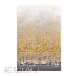 Golden Bay 2, abstrakcja, nowoczesny obraz ręcznie malowany,