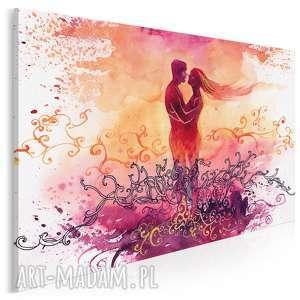 Obraz na płótnie - para miłość romantyczny 120x80 cm 78601 vaku
