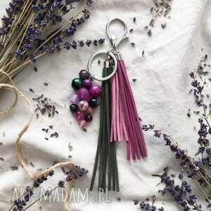 breloki brelok z kamieniami naturalnymi - lavender, lawendowy