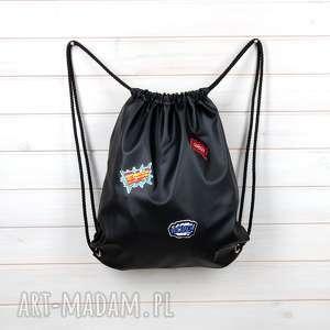 Prezent Wodooporny plecak worek z naszywkami, worek, plecak, wodoodporny, naszywki