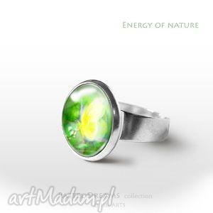 Prezent Pierścionek - Żółty motyl Energia natury, pierścionek, pierścień,
