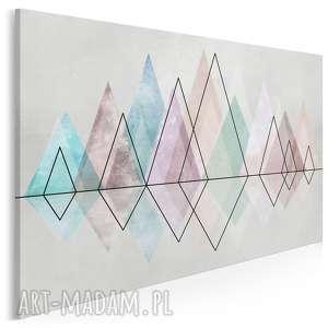 obraz na płótnie - diamenty pastele trójkąty geometryczny 120x80 cm 82601