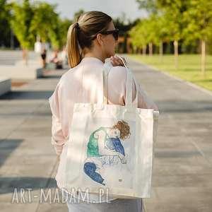 ręcznie robione na ramię torba bawełniana (średnia) schiele kobieta