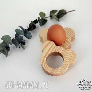 Drewniana podstawka pod jajko - MIŚ, jajko, podkładka, wielkanoc,