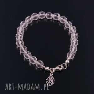 ręczne wykonanie bransoletki kryształ górski-srebrna bransoletka