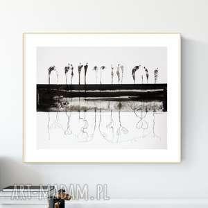 grafika 50x40 cm wykonana ręcznie, plakat, abstrakcja, elegancki minimalizm
