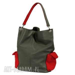 na ramię 17-0012 szara torba damska worek / torebka studia stork, markowe