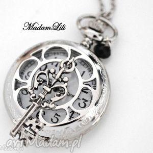 madamlili ♥ wehikuł czasu ♥ srebrny zegarek na łańcuszku