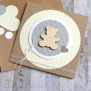 MIŚ :: KARTKA HANDMADE NA URODZINY, NARODZINY, chrzest, urodziny