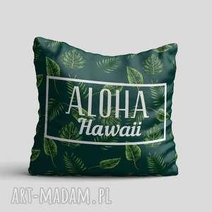 poduszka - tropical, poduszka, poszewka, liście, tropikalne, palma, palmy