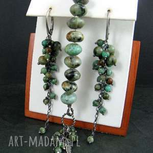 turkus afrykański, turkus, grona komplety biżuteria