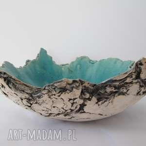artystyczna miska Sardynia, dekoracyjna, miska, ceramiczna, skała, szarpana