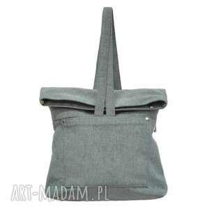 na ramię 29-0006 szara torebka plecak damski do szkoły swan, modne, damskie