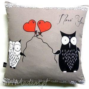 poduszka dla zakochanych, sowy, poduszka, walentynki
