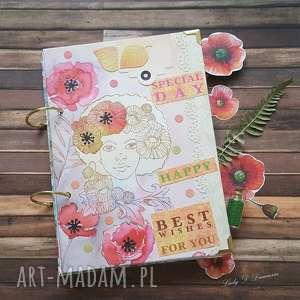 Notes pamiętnik maki i chabry scrapbooking notesy damusia maki