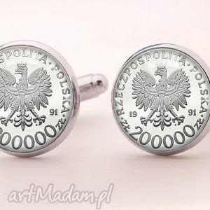 Polski orzełek - Spinki do mankietów , spinki, mankietów, złoty, moneta,