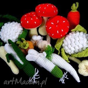 bezpieczne zabawki - grzyby muchomorki - komplet - grzyby, zabawka, prezent, dziecko