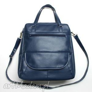 listonoszka xxl - granat, listonoszka, handmade, prezent, elegancka, nowoczesna