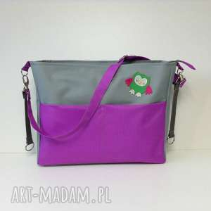 9714721b434b5 prezent torba siodlo szara - elegancki