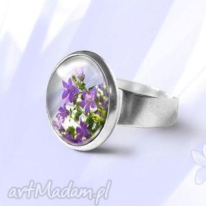 pierścionek - fioletowy kwiat