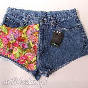 spodnie spodenki szorty kolorowe, spodenki, szorty, vintage, diy, jeans, denim