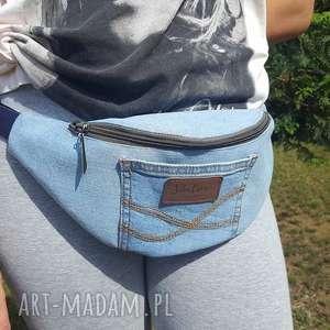 Nerka z Jasnego Niebieskiego Jeansu, torebka, nerka, szaszetka, denim, dżins, jeans