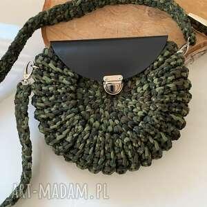 handmade na ramię szydełkowa torebka oreo moro