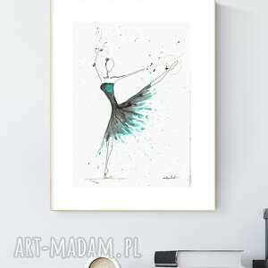 grafika 21x30 cm wykonana ręcznie, abstrakcja, obraz do salonu, 2644991
