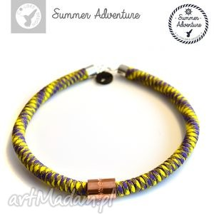 naszyjnik summer adventure - model yellow snake - nowoczesny, designerski