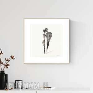 plakaty grafika 30x30 cm wykonana ręcznie, abstrakcja, obraz do salonu, 2810063