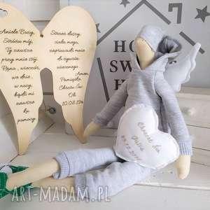 anioł tilda lalka na chrzest święty, anioł, tilda, pamiątka, chrztu, świętego